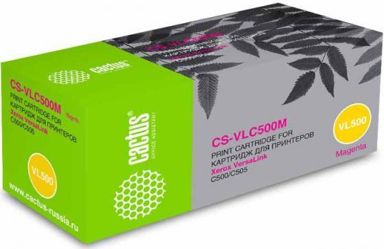 Фото - Тонер Картридж Cactus CS-VLC500M 106R03878 пурпурный (2400стр.) для Xerox VersaLink C500/C505 тонер картридж cactus cs vlc500y 106r03879 желтый 2400стр для xerox versalink c500 c505