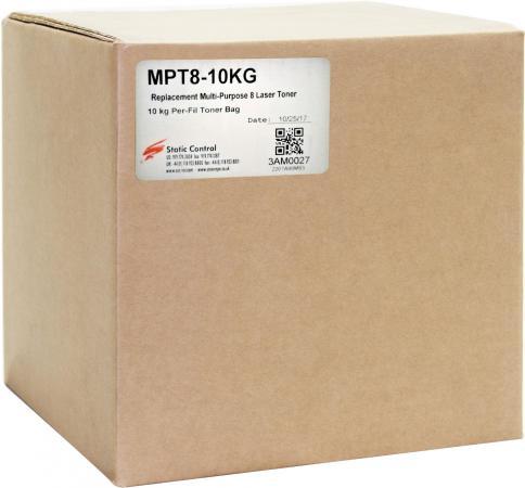 Тонер Static Control MPT8-10KG черный флакон 10000гр. для принтера HP LJ Pro PM401/ P2055/P3005/P3015 цена и фото