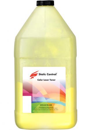 Фото - Тонер Static Control KYTK5140-1KG-Y желтый флакон 1000гр. для принтера Kyocera EcoSys-M6030/M6530/P6130/M6035/M6535/P6035 тонер static control hp1515 40b y для hp cljcp1215 1515 1518 желтый 40гр