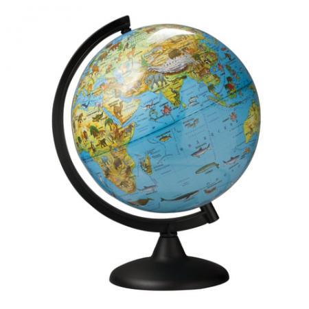 Фото - Глобус зоогеографический, диаметр 250 мм, 10369 глобус физический глобусный мир 250 мм 10160 бирюзовый