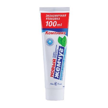 цена на Зубная паста 100 мл, НОВЫЙ ЖЕМЧУГ, комплексная защита от кариеса, с сильным ароматом мяты, 17123