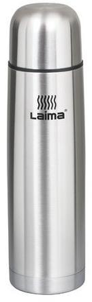 Термос ЛАЙМА классический с узким горлом, 1 л, нержавеющая сталь, 601414 дар гор тан классический 1 л