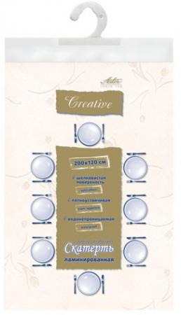 Скатерть бумажная ламинированная ASTER Creative, 120х200, белая, эффект шелка, Бельгия, 79118