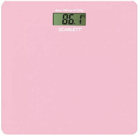 Фото - Весы напольные Scarlett SC - BS33E041 розовый весы напольные scarlett sc bs33e088 темно красный