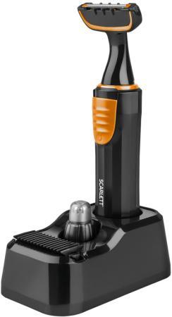 Триммер Scarlett SC-TR310M51 черный/оранжевый (насадок в компл:2шт) триммер scarlett sc hc63c24 черный красный