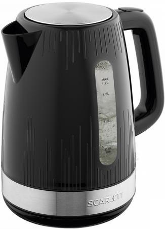 Чайник электрический Scarlett SC-EK18P51 2200 Вт чёрный 1.7 л пластик чайник scarlett is ek20p01 2200 вт 1 7 л металл пластик белый коричневый