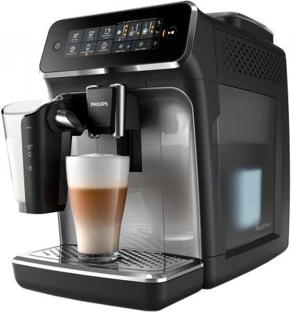лучшая цена Кофемашина Philips EP3246/70 1500Вт черный/серебристый