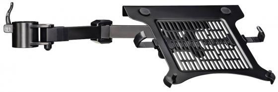 Фото - Кронштейн для мониторов ЖК Hama Notebook Expansion Set черный 10-15.6 макс.4кг крепление к столешнице поворот и наклон кронштейн
