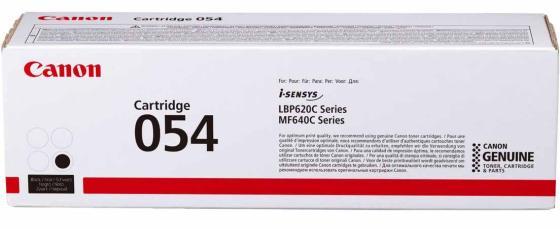 Картридж Canon 054 BK для Canon i-Sensys LBP621Cw i-SENSYS LBP623Cdw i-SENSYS MF641Cw i-SENSYS MF643Cdw i-SENSYS MF645Cx 1500 Черный 3024C002