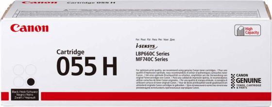 Картридж лазерный Canon 055 H BK 3020C002 черный (7600стр.) для Canon MF746Cx/MF744Cdw/MF742Cdw/LBP664Cx/663Cdw картридж лазерный canon 055 bk 3016c002 черный 2300стр для canon mf746cx mf744cdw mf742cdw lbp664cx 663cdw