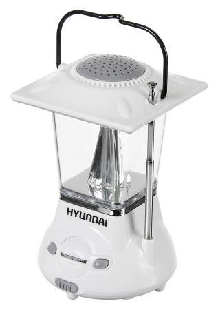 Радиоприемник портативный Hyundai H-RLC110 белый/серый цена и фото