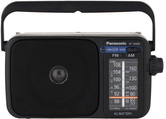 лучшая цена Радиоприемник портативный Panasonic RF-2400DEE-K черный