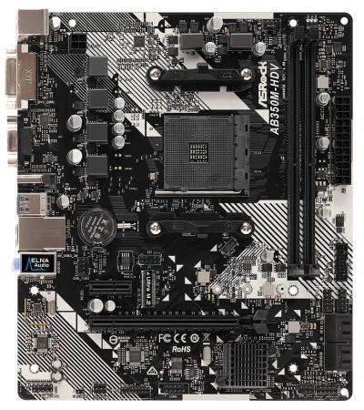 Материнская плата ASRock AB350M-HDV R4.0 Socket AM4 AMD B350 2xDDR4 1xPCI-E 16x 1xPCI-E 1x 4 mATX Retail цена и фото