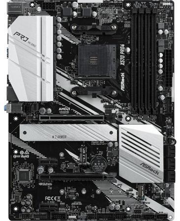 Материнская плата ASRock X570 PRO4 Socket AM4 AMD X570 4xDDR4 2xPCI-E 16x 2xPCI-E 1x 8 ATX Retail материнская плата для пк asus m5a97 r2 0 socket am3 amd 970 4xddr3 2xpci e 16x 2xpci 2xpci e 1x 6xsataiii atx retail