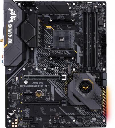 Фото - Материнская плата ASUS TUF GAMING X570-PLUS (WI-FI) Socket AM4 AMD X570 4xDDR4 2xPCI-E 16x 2xPCI-E 1x 8 ATX Retail материнская плата asus tuf gaming b550m plus socket am4 amd b550 4xddr4 2xpci e 16x 1xpci e 1x 4 matx retail