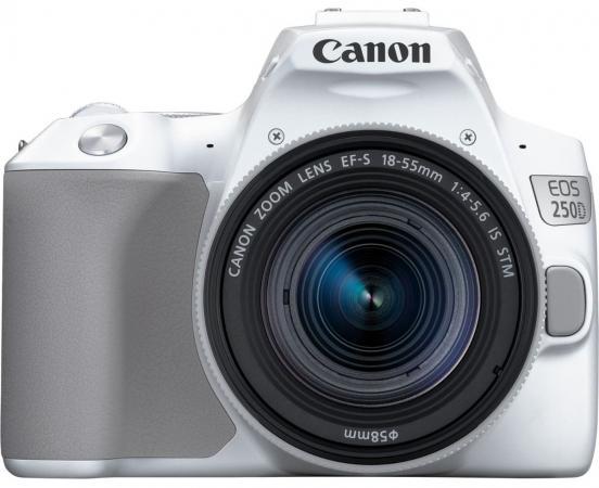 Фото - Зеркальный Фотоаппарат Canon EOS 250D белый 24.1Mpix EF-S 18-55mm f/1:4-5.6 IS STM 3 4K Full HD SDXC Li-ion фотоаппарат
