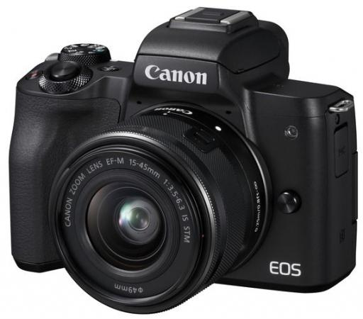 Фото - Фотоаппарат Canon EOS M50 черный 24.1Mpix 3 4K WiFi 15-45 IS STM LP-E12 (с объективом) фотоаппарат