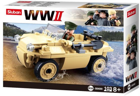 """Конструктор best toys """"Вторая Мировая Война- Volkswagen Typ 82"""" 103 элемента хаммертон дж ред вторая мировая война блицкриг илл история"""