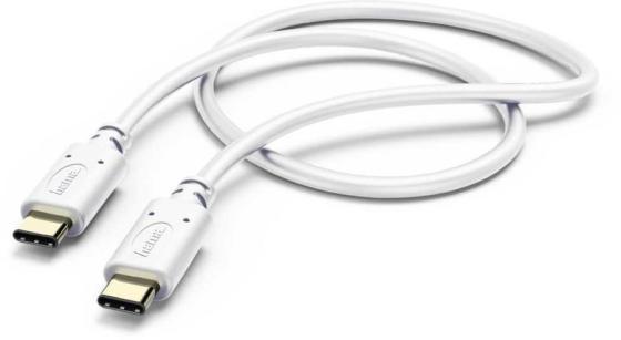Фото - Кабель Hama 00183330 USB Type-C (m) USB Type-C (m) 1м белый кабель hama microusb usb type c черный 0 75м 00135713