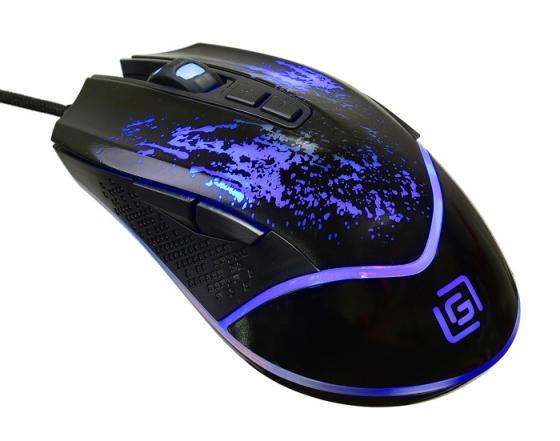 Мышь проводная Oklick 888G чёрный USB