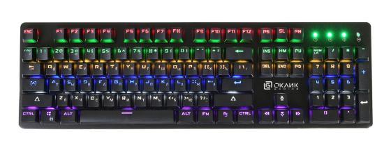 лучшая цена Клавиатура проводная Oklick 990G USB черный