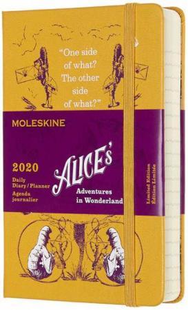 Ежедневник Moleskine ALICE IN WONDERLAND Pocket 90x140мм 400стр. желтый