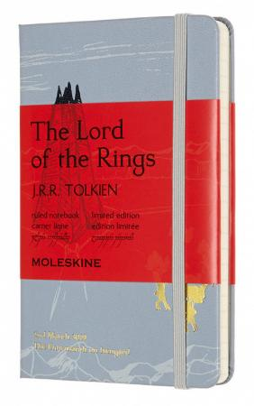 Блокнот Moleskine LIMITED EDITION LORD OF THE RINGS LELRMM710SH Pocket 90x140мм 192стр. линейка фисташковый Shire
