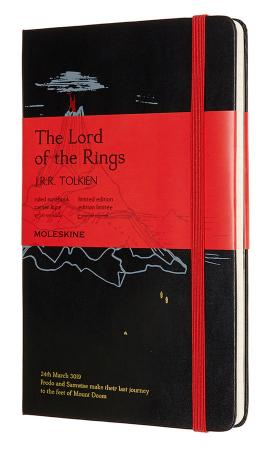 Блокнот Moleskine LIMITED EDITION LORD OF THE RINGS LELRQP060MD Large 130х210мм 240стр. линейка черный Mt. Doom