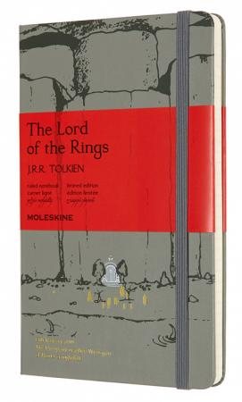 Блокнот Moleskine LIMITED EDITION LORD OF THE RINGS LELRQP060MO Large 130х210мм 240стр. линейка серый Moria huntingtower large print edition