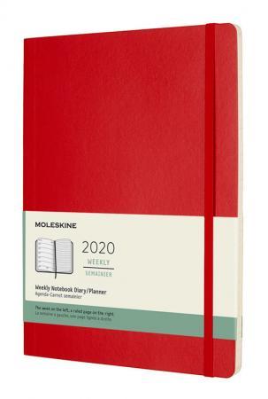 Еженедельник Moleskine CLASSIC SOFT WKNT XL 190х250мм 144стр. мягкая обложка красный еженедельник moleskine classic soft wknt 144стр синий сапфир [dsb2012wn2]