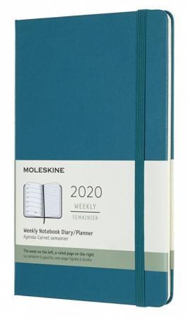 цена на Еженедельник Moleskine CLASSIC WKNT Large 130х210мм 144стр. темно-бирюзовый