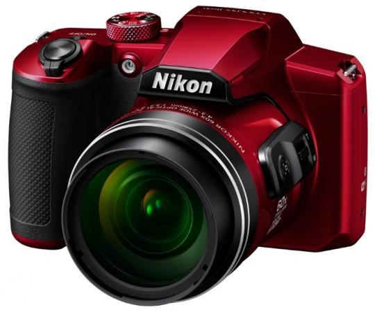 Фотоаппарат Nikon CoolPix B600 красный 16Mpix Zoom60x 3 1080p SDXC CMOS 1x2.3 IS opt 1minF VF HDMI/WiFi/EN-EL12