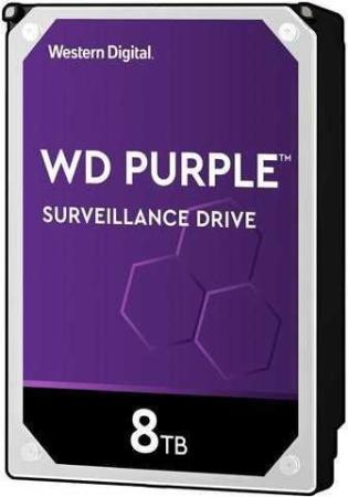 "Жесткий диск WD Original SATA-III 8Tb WD82PURZ Purple (7200rpm) 256Mb 3.5"" жесткий диск 8tb western digital purple wd80puzx"