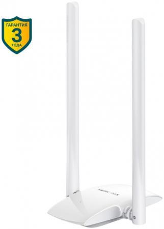 Сетевой адаптер WiFi Mercusys MW300UH USB 2.0 (ант.внеш.несъем.) 2ант. все цены