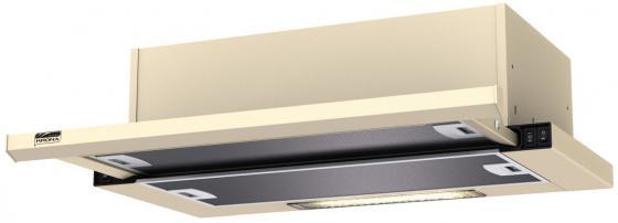 Вытяжка встраиваемая Krona Kamilla 600 slim бежевый управление: кнопочное (2 мотора) цена и фото