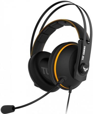 Игровая гарнитура проводная ASUS TUF Gaming H7 черный желтый гарнитура