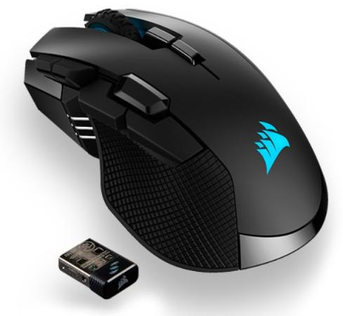 Corsair Gaming™ IRONCLAW RGB WIRELESS, Rechargeable Gaming Mouse with SLISPSTREAM WIRELESS Technology, Black, Backlit RGB LED, 18000 DPI, Optical (EU version)