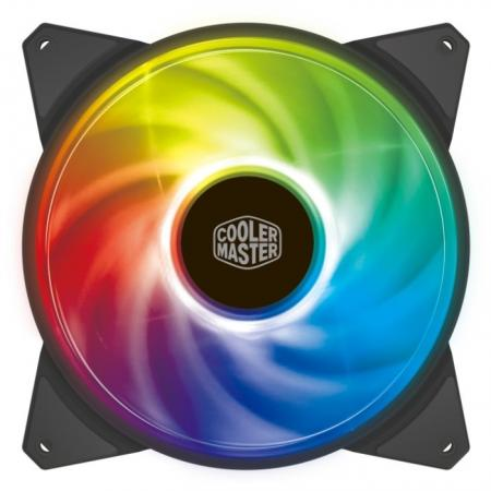 Cooler Master MF140R LED Fan, PWM silent master 20см green led