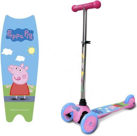 Фото - Самокат трехколёсный 1toy Peppa Pig 125/100 мм розовый самокат 3 х колесный 1toy peppa pig корзинка т59976