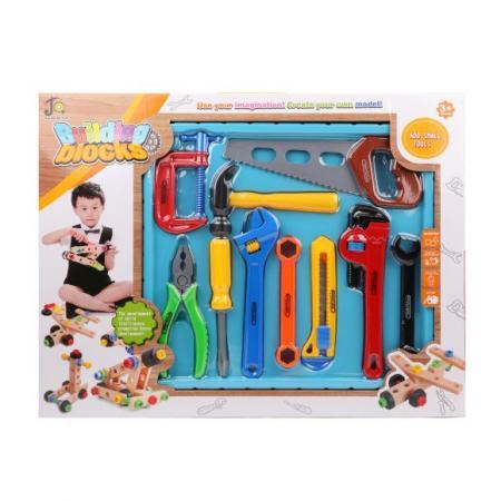Купить Набор инструментов Наша Игрушка 808-9 10 предметов, Игровые наборы Юный мастер
