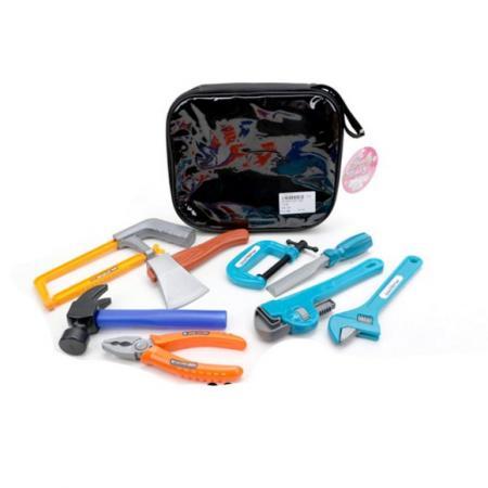 Купить Набор инструментов, 9 предметов, сумка, Наша Игрушка, Игровые наборы Юный мастер