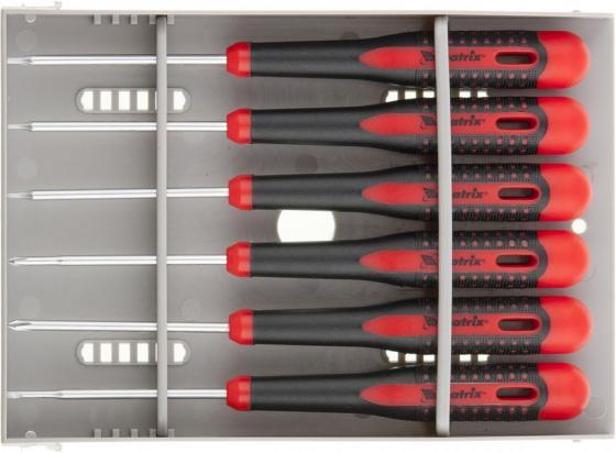 Набор отверток для точных работ Fusion, 2-компонентная рукоятка, 6 шт., в пласт. пенале// Matrix