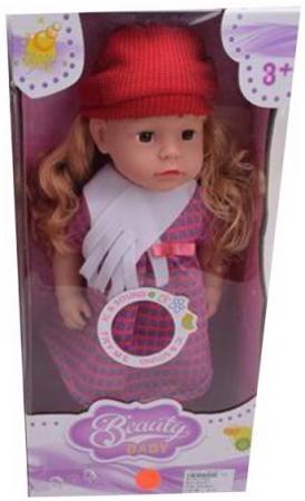 Кукла 45 см в красной шапочке, звук, бат.CR2032*1шт. в компл.вх., кор.