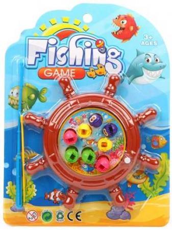 Купить Рыбалка заводная, игровое поле + 8 фигурок + удочка, блистер, Наша Игрушка, Игровые наборы для мальчиков