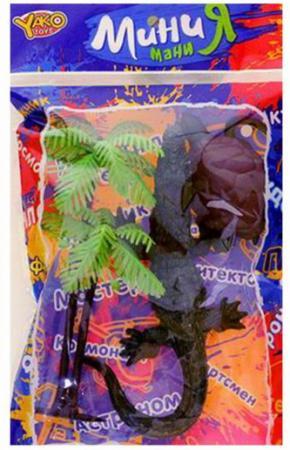 цена на Набор фигурок Дикие животные, крокодил 15см., черепаха, пальма, пакет