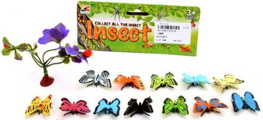 Набор фигурок Бабочки, 12 шт., аксессуары цена и фото