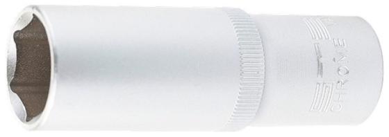 Головка торцевая удлиненная, 10 мм, 6-гранная, CrV, под квадрат 1/2, // Stels головка торцевая 1 4 е6 crv stels