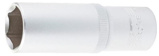 Головка торцевая удлиненная, 12 мм, 6-гранная, CrV, под квадрат 1/2, // Stels головка торцевая 1 4 е6 crv stels
