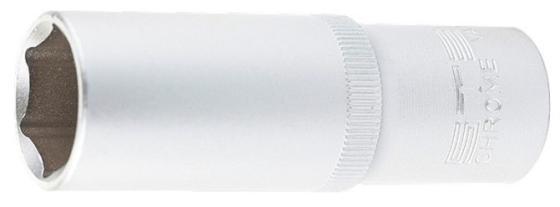 Головка торцевая удлиненная, 13 мм, 6-гранная, CrV, под квадрат 1/2, // Stels головка торцевая 1 4 е6 crv stels