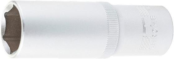 Головка торцевая удлиненная, 17 мм, 6-гранная, CrV, под квадрат 1/2, // Stels головка торцевая 1 4 е6 crv stels